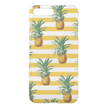 pinepples yellow stripes iPhone 8 plus/7 plus case
