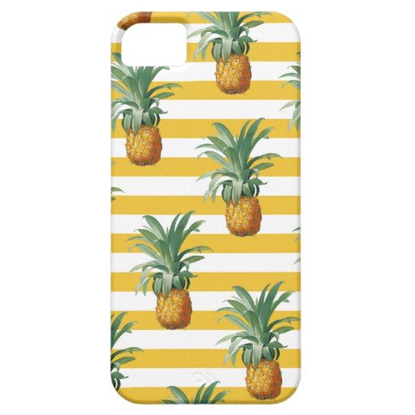 pinepples yellow stripes iPhone SE/5/5s case