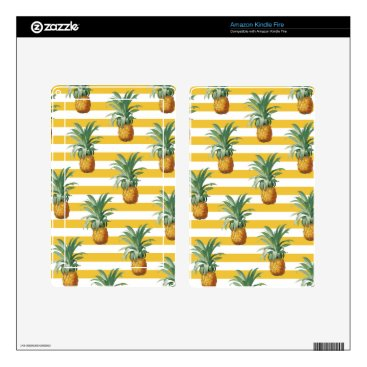 pinepples yellow stripes kindle fire decal