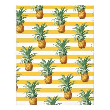 pinepples yellow stripes letterhead