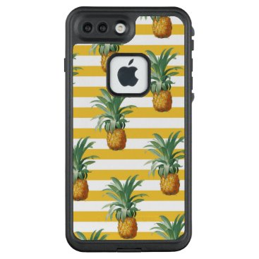 pinepples yellow stripes LifeProof FRĒ iPhone 7 plus case