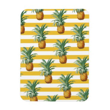 pinepples yellow stripes magnet