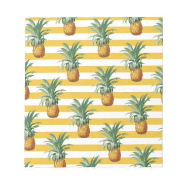 pinepples yellow stripes notepad