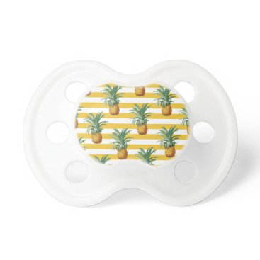 pinepples yellow stripes pacifier