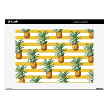 """pinepples yellow stripes skins for 15"""" laptops"""