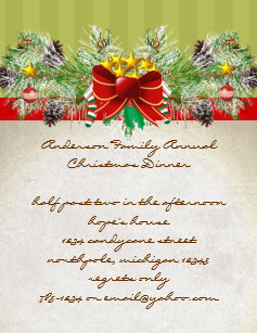 pinery christmas dinner invitation party invites - Pinery Christmas Trees