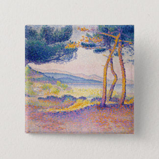 Pines Along the Shore Pinback Button
