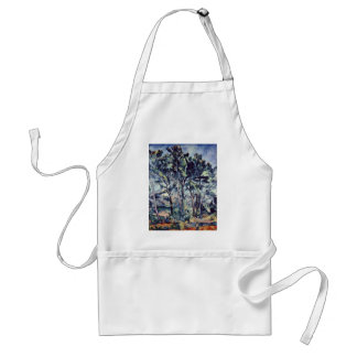 Pines And Aqueduct (The Viaduct) By Paul Cézanne Adult Apron