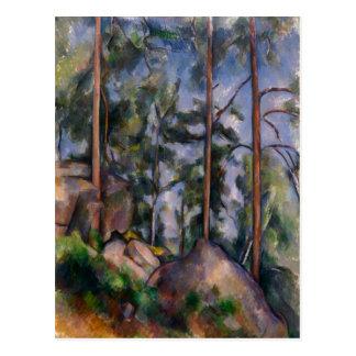 Pines and Rocks (Pins et Rochers) Paul Cézanne Postcard