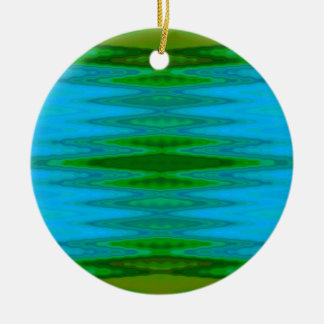 Pines and Water Abstract Christmas Ornament