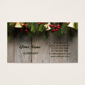 Pines and Wood Grain Business Card