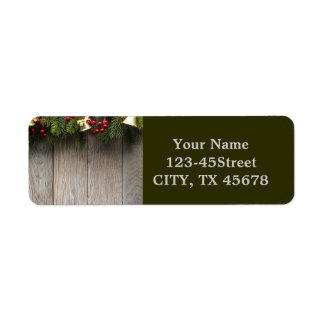 Pines and Wood Grain Labels