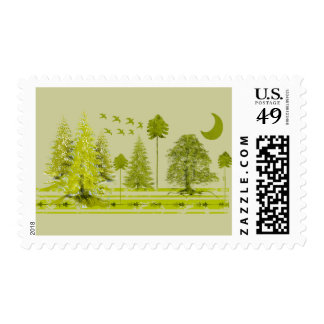 Pines Apparel and Gifts Postage Stamp