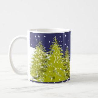 Pines Christmas Star Mug with Moon Cloud