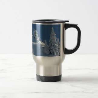 Pines Covered with Snow 15 Oz Stainless Steel Travel Mug