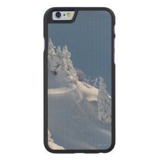 Pines Covered with Snow Carved Maple iPhone 6 Case