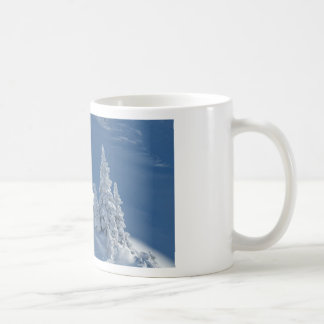 Pines Covered with Snow Classic White Coffee Mug