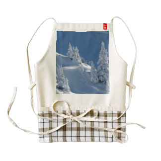 Pines Covered with Snow Zazzle HEART Apron