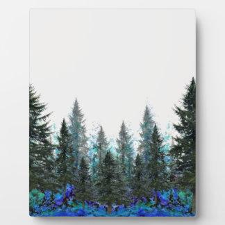 PINES FOREST MOUNTAIN LANDSCAPE PLAQUE