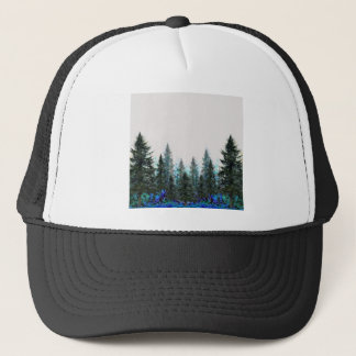 PINES FOREST MOUNTAIN LANDSCAPE TRUCKER HAT