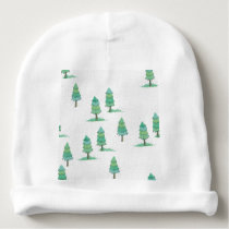pines to winter forest baby beanie