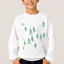 pines to winter forest sweatshirt