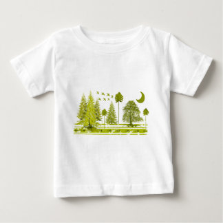 Pines with Moon-change t-shirt color and style