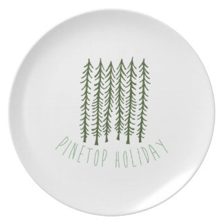 Pinetop Holiday Party Plates