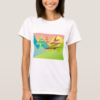 Pinetree Mountaintop in a Green World T shirts