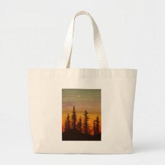 Pinetree Sunset Canvas Bag