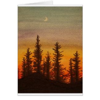 Pinetree Sunset Card