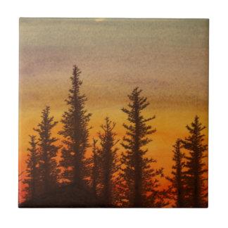 Pinetree Sunset Ceramic Tile