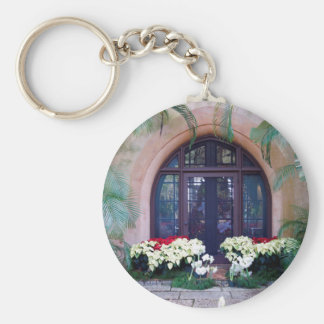 Pinewood Christmas Basic Round Button Keychain
