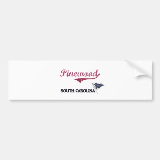 Pinewood South Carolina City Classic Bumper Stickers