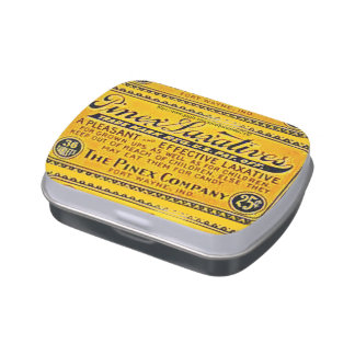 """""""Pinex Laxatives"""" Jelly Belly Candy Tin"""