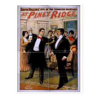Piney Ridge, 'You Lie' Vintage Theater Postcard