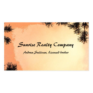 Piney Sunrise Real Estate Business Card Template