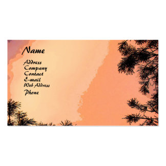 Piney Sunset Business Card Template