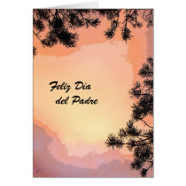 Piney Sunset Dia del Padre Card