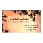 Piney Sunset Mommy Double-Sided Standard Business Cards (Pack Of 100)