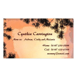 Piney Sunset Mommy Business Cards