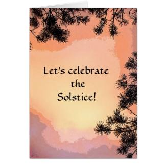Piney Sunset Summer Solstice Card