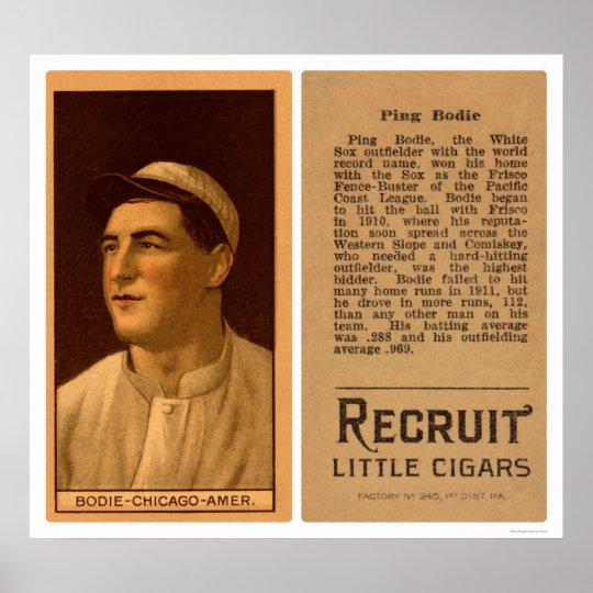 Ping Bodie White Sox Baseball 1912 Poster