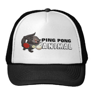 Ping Pong Animal Binturong Table Tennis Cartoon Trucker Hat