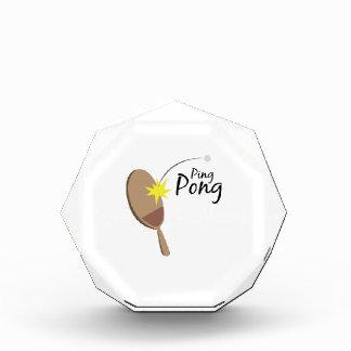 Ping Pong Acrylic Award