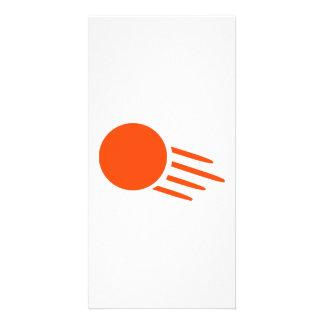 Ping pong ball customized photo card