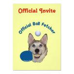 "Ping Pong Ball Fetcher Dog 5"" X 7"" Invitation Card"