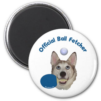 Ping Pong Ball Fetcher Dog Refrigerator Magnets