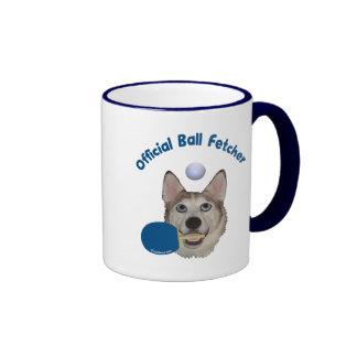 Ping Pong Ball Fetcher Dog Ringer Coffee Mug