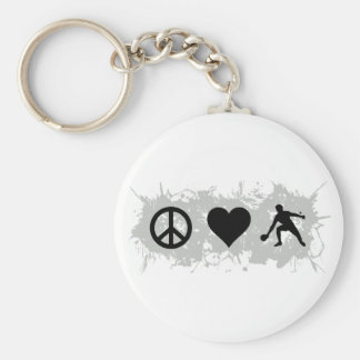 Ping Pong Basic Round Button Keychain